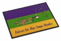 Carolines Treasures  8382MAT Mardi Gras Indoor or Outdoor Mat 18x27 Doormat - 18Hx27W