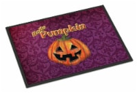 Carolines Treasures  SB3017MAT Hello Pumpkin Halloween Indoor or Outdoor Mat 18x