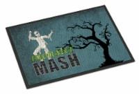 Monster Mash with Mummy Halloween Indoor or Outdoor Mat 18x27 Doormat - 18Hx27W