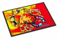 Carolines Treasures  MW1086MAT Crab Hot Dang Indoor or Outdoor Mat 18x27 Doormat - 18Hx27W