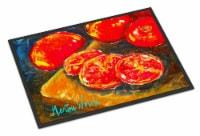 Vegetables - Tomatoes Slice It Up Indoor or Outdoor Mat 18x27 Doormat - 18Hx27W