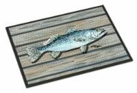 Fish Speckled Trout Indoor or Outdoor Mat 24x36 8494 Doormat - 24Hx36W
