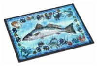 Fish Speckled Trout Indoor or Outdoor Mat 24x36 8086 Doormat - 24Hx36W
