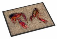 Carolines Treasures  8739JMAT Crawfish  Indoor or Outdoor Mat 24x36 Doormat - 24Hx36W