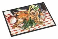 Carolines Treasures  8537JMAT Crab Boil Indoor or Outdoor Mat 24x36 Doormat - 24Hx36W