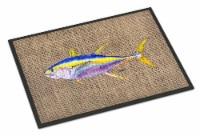 Carolines Treasures  8771JMAT Fish - Tuna Indoor or Outdoor Mat 24x36 Doormat