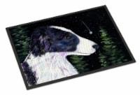 Starry Night Border Collie Indoor or Outdoor Mat 24x36 Doormat - 24Hx36W