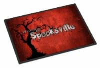 Welcome to Spooksville Halloween Indoor or Outdoor Mat 24x36 Doormat - 24Hx36W