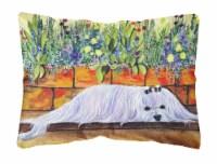 Carolines Treasures  SS8248PW1216 Maltese Decorative   Canvas Fabric Pillow - 12Hx16W