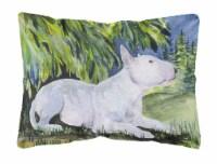 Carolines Treasures  SS8266PW1216 Bull Terrier Decorative   Canvas Fabric Pillow