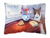 Carolines Treasures  7249PW1216 Bull Terrier Decorative   Canvas Fabric Pillow - 12Hx16W