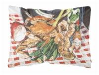 Carolines Treasures  8537PW1216 Crab Boil Decorative   Canvas Fabric Pillow - 12Hx16W