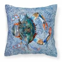 Carolines Treasures  8149PW1414 Crab Decorative   Canvas Fabric Pillow