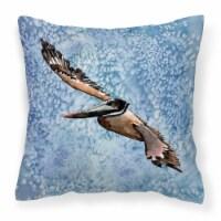 Carolines Treasures  8150PW1414 Bird - Pelican Decorative   Canvas Fabric Pillow - 14Hx14W
