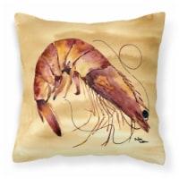Carolines Treasures  8161PW1414 Shrimp Decorative   Canvas Fabric Pillow