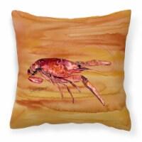 Carolines Treasures  8232PW1414 Crawfish Decorative   Canvas Fabric Pillow - 14Hx14W