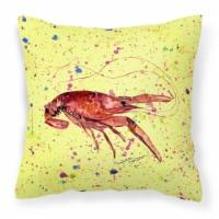 Carolines Treasures  8451PW1414 Crawfish Decorative   Canvas Fabric Pillow - 14Hx14W