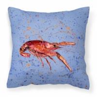 Carolines Treasures  8458PW1414 Crawfish Decorative   Canvas Fabric Pillow - 14Hx14W