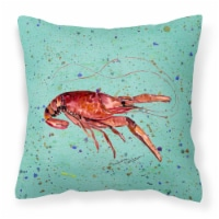 Carolines Treasures  8461PW1414 Crawfish Decorative   Canvas Fabric Pillow - 14Hx14W