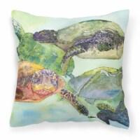 Carolines Treasures  8549PW1414 Turtle Decorative   Canvas Fabric Pillow
