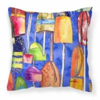 Carolines Treasures  8723-2PW1414 Lobster Bouys Decorative   Canvas Fabric Pillo - 14Hx14W