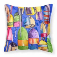 Carolines Treasures  8723-4PW1414 Lobster Bouys Decorative   Canvas Fabric Pillo