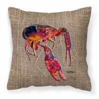 Carolines Treasures  8739PW1414 Crawfish Decorative   Canvas Fabric Pillow - 14Hx14W