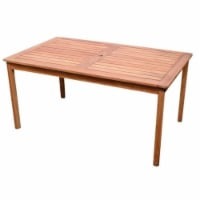 Wood Patio Dining Table in Brown-Bowery Hill - 1
