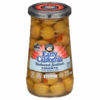 Early California Reduced Salt Pimento Stuffed Manzanilla Green Olives