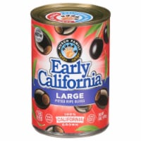 Early California Large Pitted Black Ripe Olives