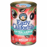 Early California Extra Large Pitted Ripe Black Olives