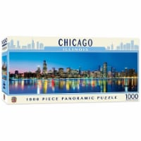 Downtown Chicago Illinois 1000 Piece Panoramic Jigsaw Puzzle - 1 Each