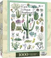 Cacti of the Desert Southwest 1000 Piece Linen Jigsaw Puzzle - 1 Each