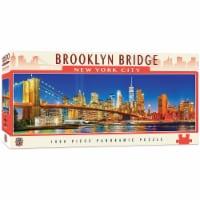 NYC Brooklyn Bridge 1000 Piece Panoramic Jigsaw Puzzle - 1 Each