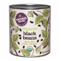 108-oz. Natural Value Food Service Size ORGANIC BLACK BEANS / 6-ct. case - 6