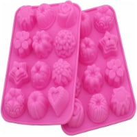 Zicome 2 Pack Flower Shaped Silicone Mold for Bath Bomb Soap Chocolate Candy Making - 2