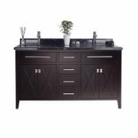 Wimbledon - 60 - Brown Cabinet + Black Wood Marble Countertop