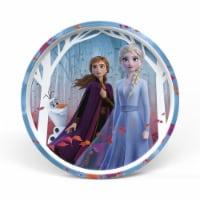 Zak Designs Frozen 2 Melamine Plate with Rim