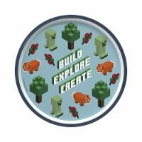 Zak Designs Minecraft Melamine Plate with Rim