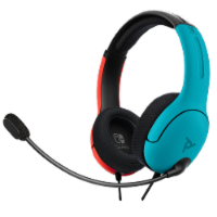 PDP LVL40 Wired Gaming Headset for Nintendo Switch - Blue/Red - 1 ct