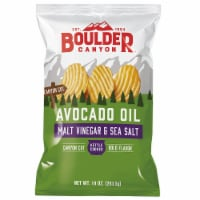 Boulder Canyon Malt Vinegar & Sea Salt Avocado Oil Kettle Cooked Chips - 10 oz