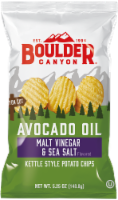 Boulder Canyon Avocado Oil Kettle Cooked Malt Vinegar & Sea Salt Potato Chips