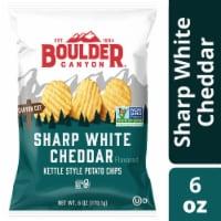 Boulder Canyon Sharp White Cheddar Kettle Chip - 6 oz