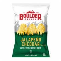 Boulder Canyon Jalapeno Cheddar Kettle Style Potato Chips - 5 oz