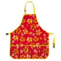 Ogrow OGAPL-R 33 x 30 in. High Quality Gardeners Tool Apron with Adjustable Neck & Waist Belt