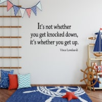 VWAQ It's Not Whether You Get Knocked Down Vince Lombardi Wall Decal - 1