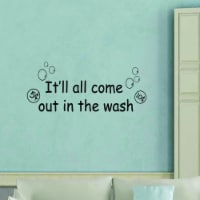 VWAQ It'll All Come Out In The Wash Laundry Room Wall Art - 1