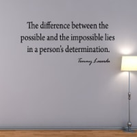 VWAQ The Difference Between the Possible Tommy Lasorda Vinyl Wall Decal - 1