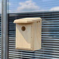 Premium Bird Houses See Through Window Nesting Box with Clear Back for Outside - 1