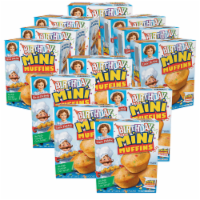 Birthday Cake Mini Muffins, 12 Boxes, 60 Travel Pouches of Bite Size Muffins - 60